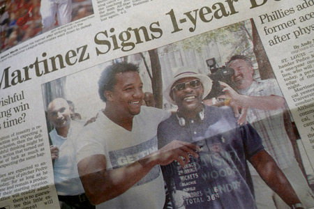 Me and Pedro down by the school yard (Philadelphia Inquirer)